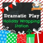 Dramatic Play Holiday Wrapping Station Printables
