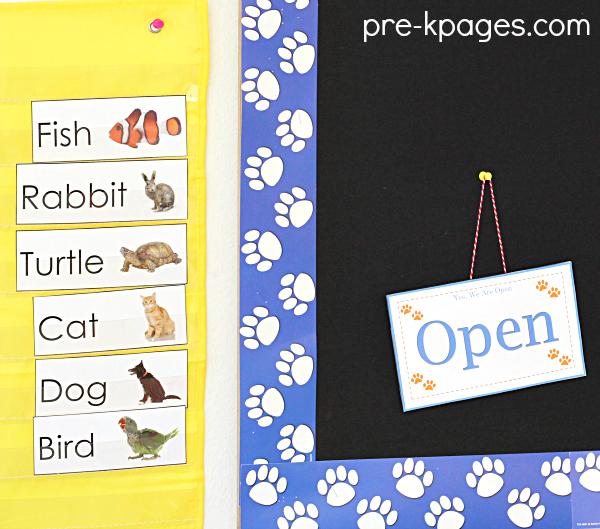 Printable Pet Vocabulary Cards