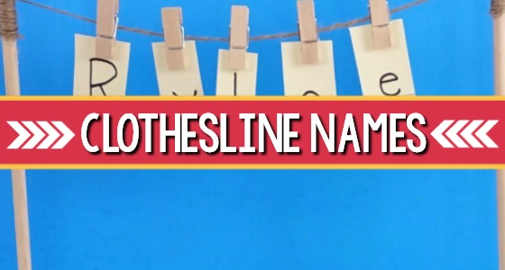 clothesline names activity