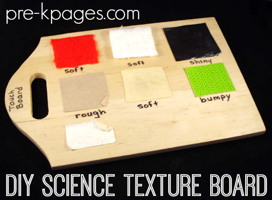 DIY Science Texture Board