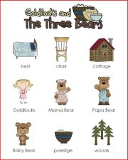 Goldilocks and the Three Bears Mini Word Wall