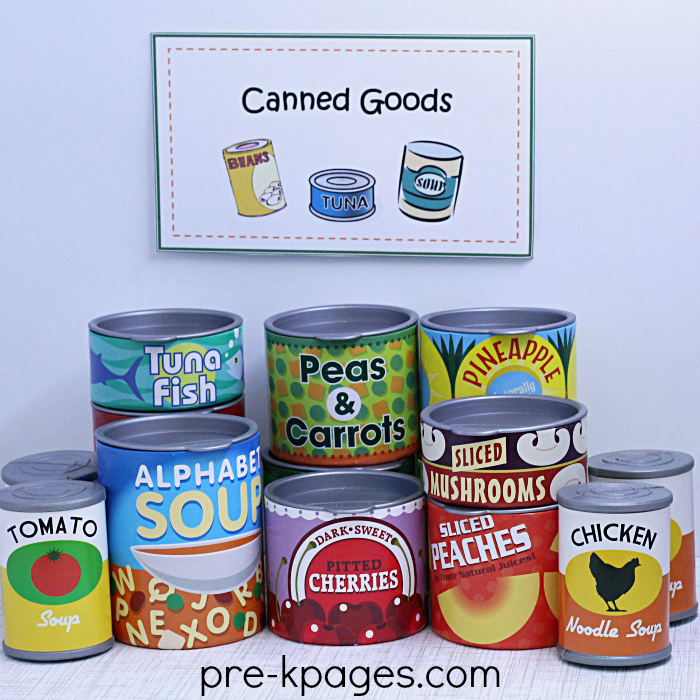 Play Canned Food for Preschool