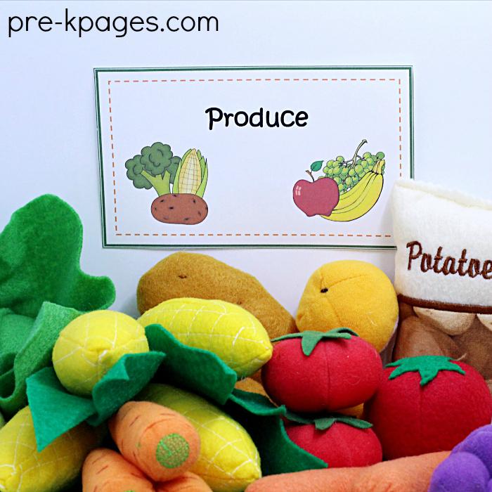 Play Food Fruit and Veggies