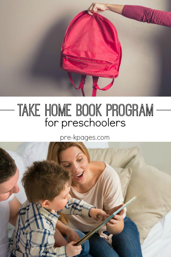 Printable Take Home Book Program for Preschoolers