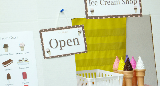 Ice Cream Shop Dramatic Play Center