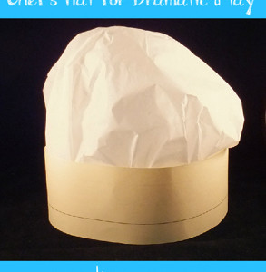 Simple Chef Hats for Dramatic Play