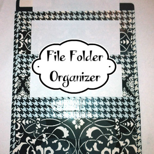 DIY Vertical File Organizer Tutorial