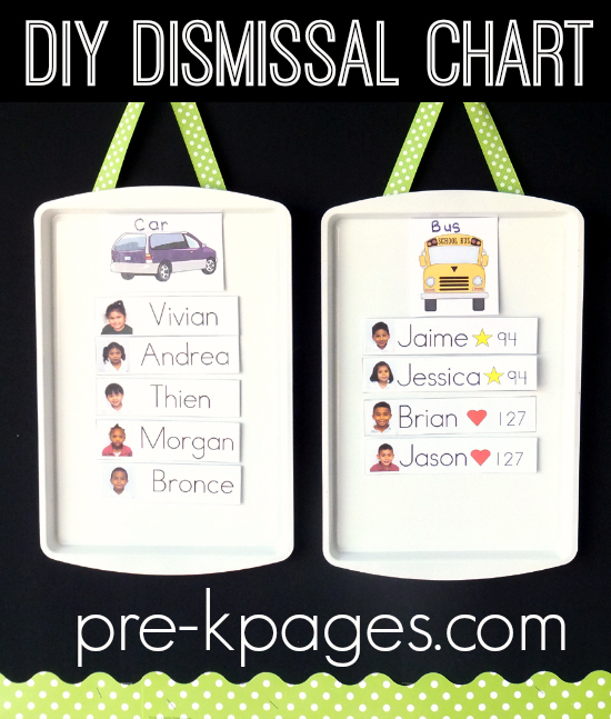 Easy DIY Magnetic Dismissal Chart