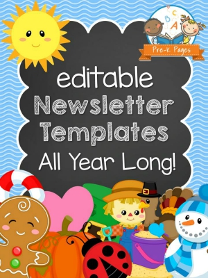 Printable Newsletters for Preschool