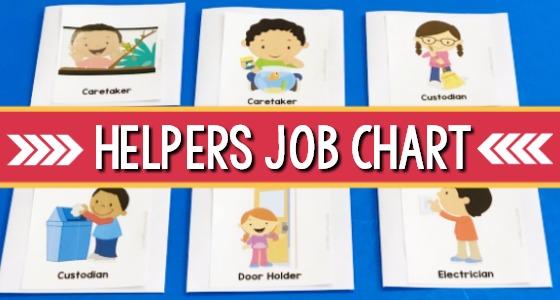 DIY Classroom Helper Jobs Chart