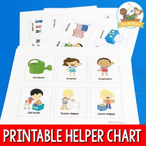 Printed Helper Chart