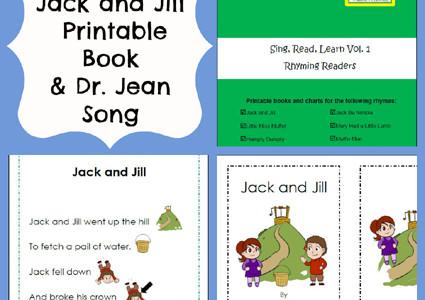 Free Jack and Jill Printable Book, Chart, and Song