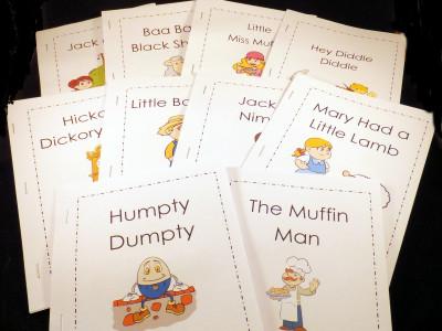 Printable Nursery Rhyme Books and Charts
