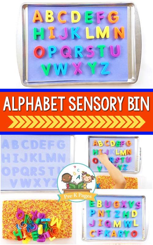 Alphabet Sensory Bin Letter Recognition