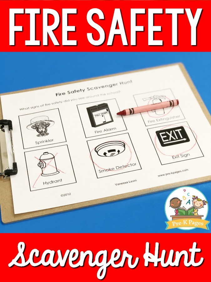 Fire Prevention Scavenger Hunt Printable