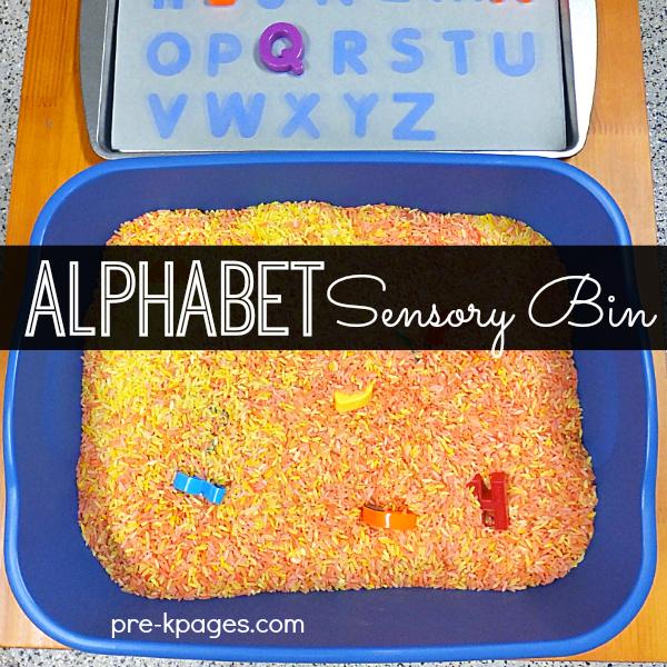 Letter Sensory Bin for Preschool