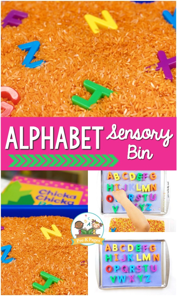 Letters in the Sensory Table