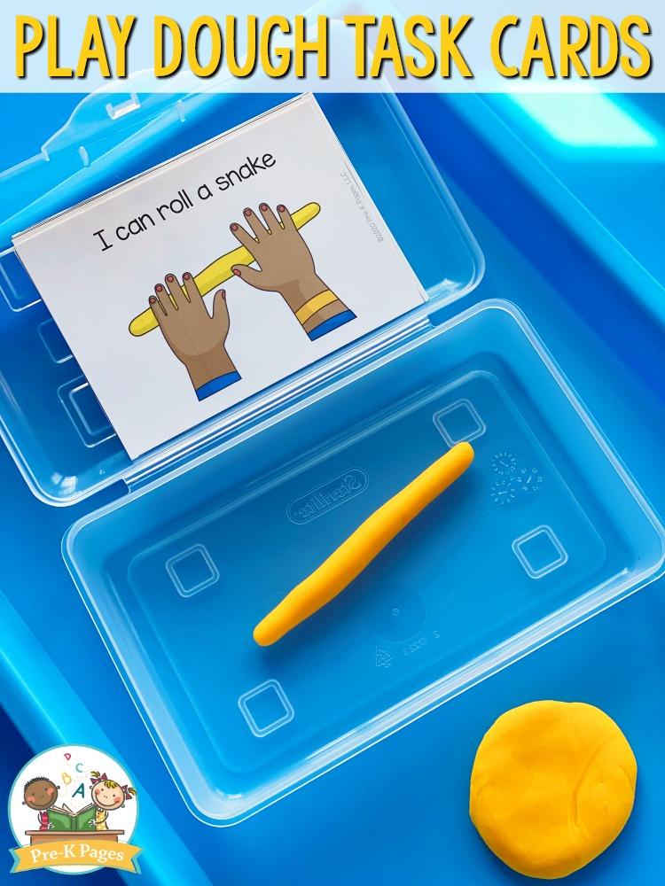 Play Dough Activity in Pencil Box