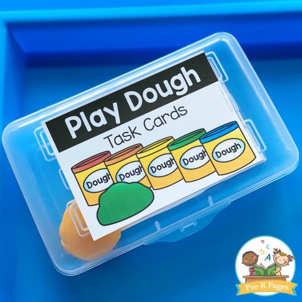 Play Dough Cards in Pencil Box