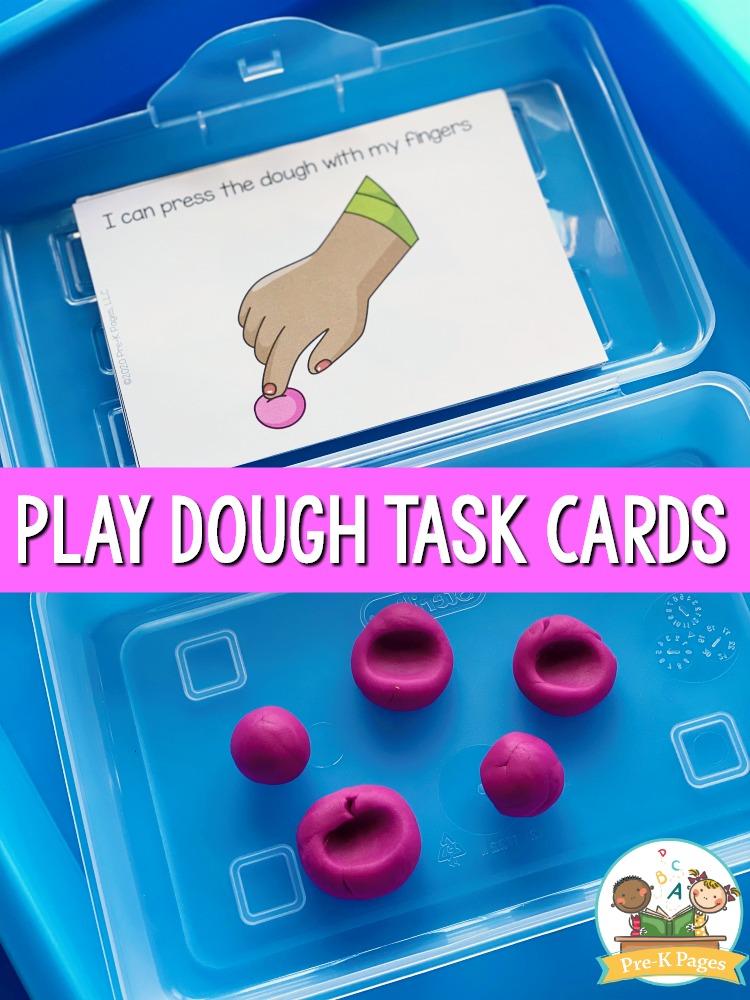 Play Dough Instruction Cards