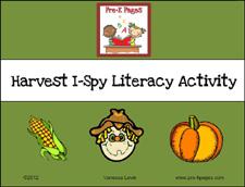 Harvest I Spy Beginning Sounds Activity