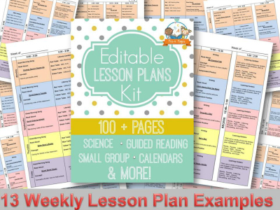 Electronic Lesson Plan Templates for Preschool and Kindergarten