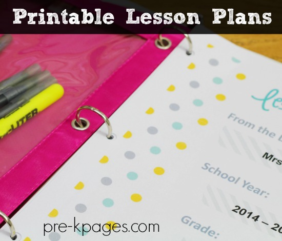 Digital Lesson Plan Binder for Preschool and Kindergarten