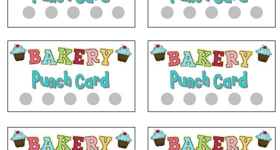 Printable Punch Cards for Dramatic Play