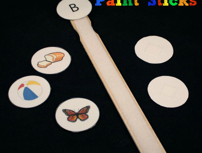 Paint Stick Beginning Sounds Activity Updated