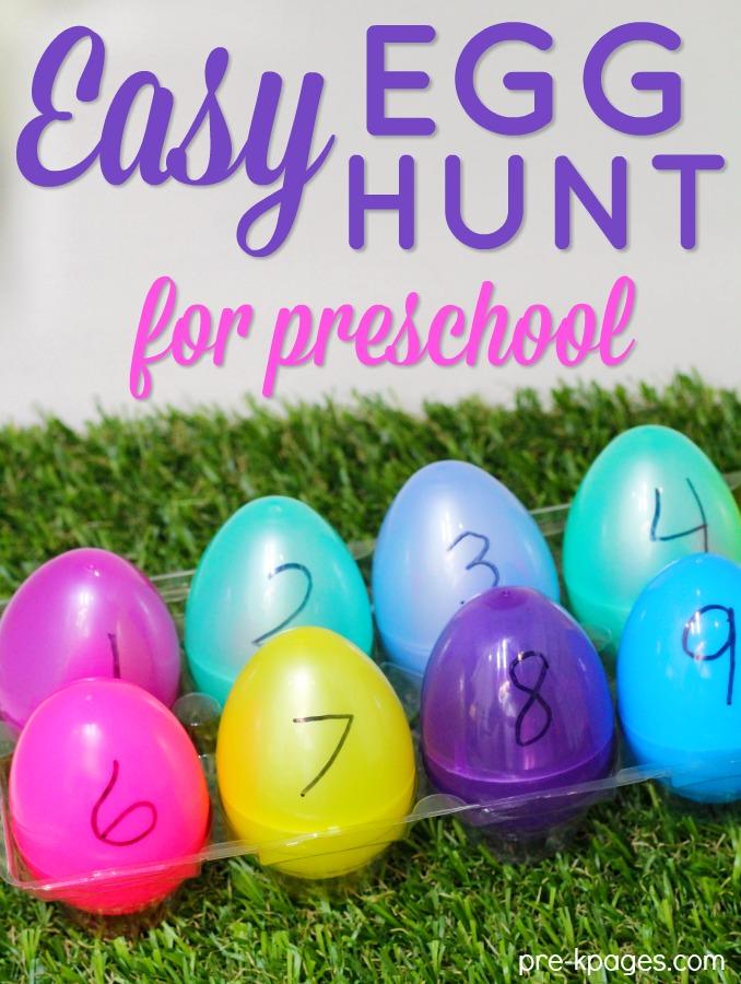 Easy Easter Egg Hunt for Preschool