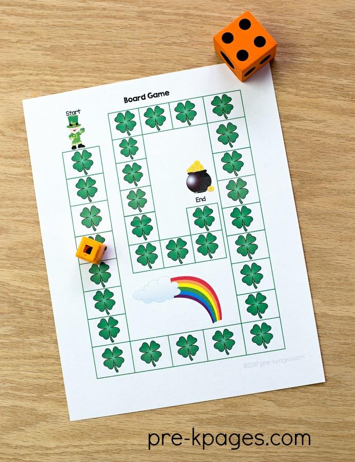 Printable St Patricks Day Board Game