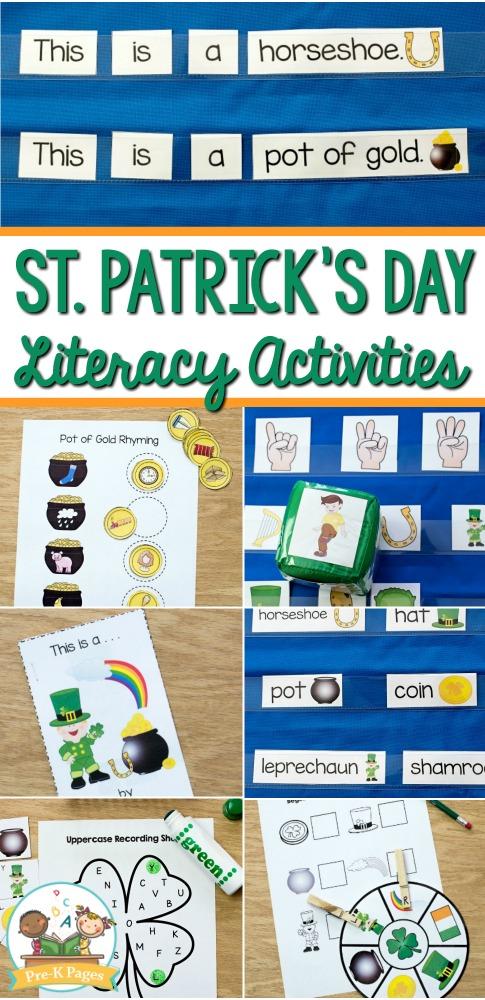 St Patricks Day Literacy Activities for Preschoolers
