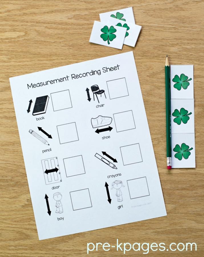 St Patricks Day Printable Measurement Activity