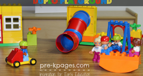Fun with Duplo Play Sets in Preschool