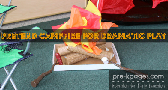 Fake Campfire for Dramatic Play Camping Theme