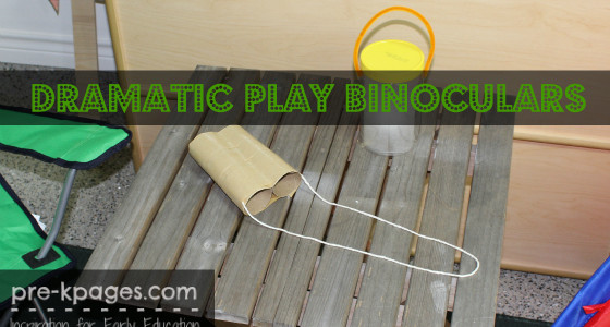 How to Make Binoculars for Dramatic Play Camping Theme in Preschool and Kindergarten