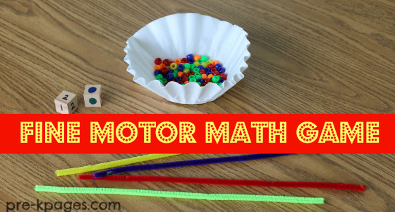 Fine Motor Counting Activity