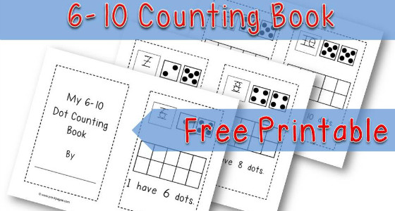 Printable Dot Counting Book {6-10}