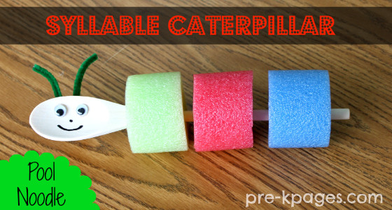 Pool Noodle Syllable Caterpillar
