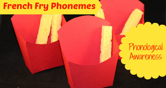 DIY French Fry Box Phonological Awareness Activity