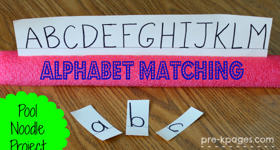 Pool Noodle Letter Matching Activity