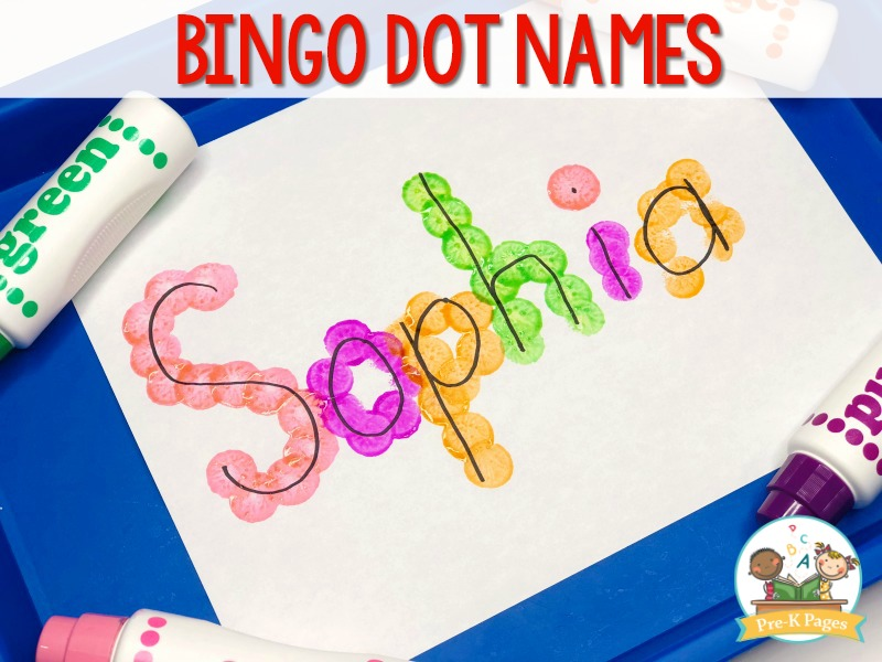 Bingo Dot Name Activity