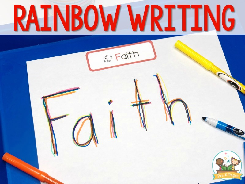 Rainbow Writing Name Activity