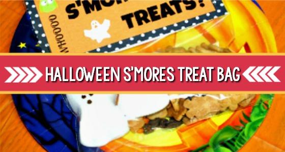 Halloween Smores Treat Bag Printable (+more snack ideas!)