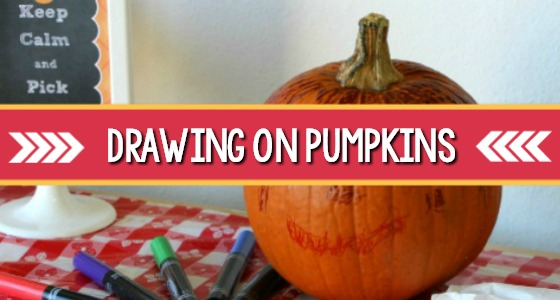 Drawing on Pumpkins With Markers Activity