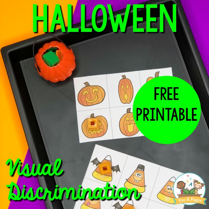Halloween Visual Discrimination Printable