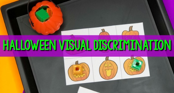 Halloween Visual Discrimination Activity