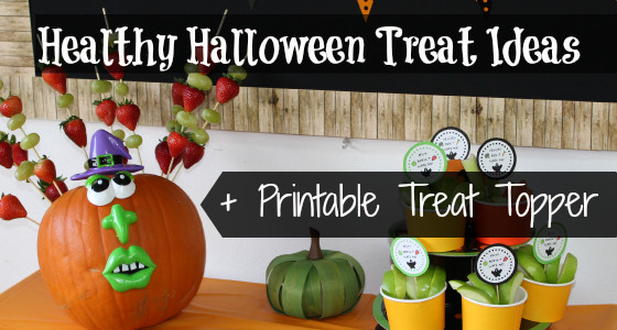 Healthy Halloween Party Treats + Printable