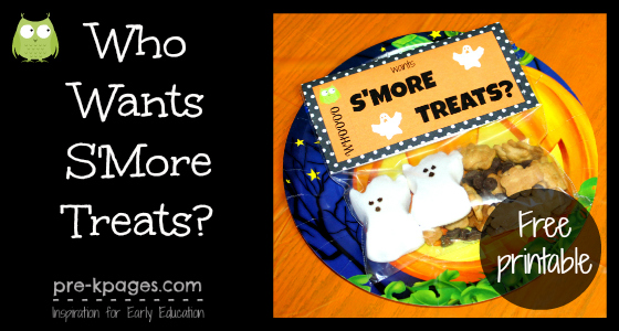 Halloween Smores Treat Bag Printable (+more snack ideas!)