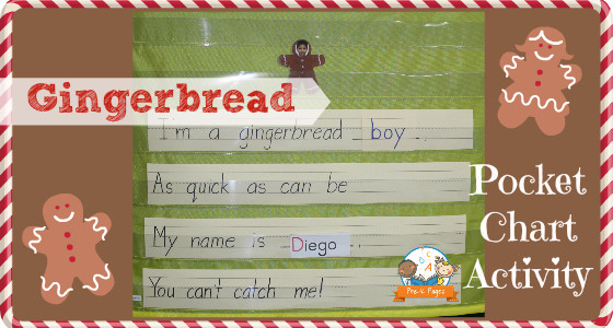 Gingerbread Poem Pocket Chart Activity